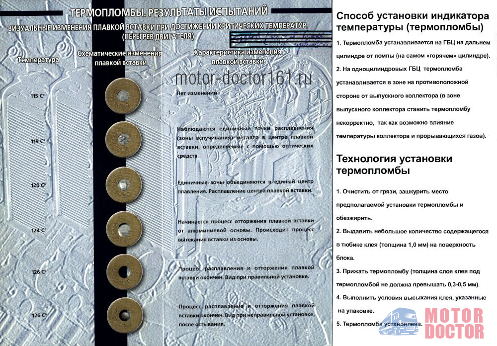 Термопломба индикатор перегрева